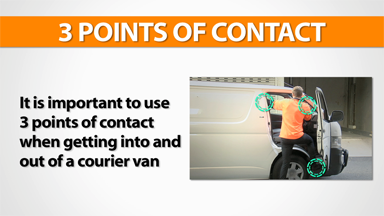 3 Points Of Contact: Courier Van