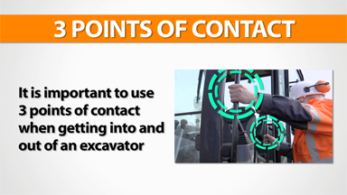 3 Points Of Contact: Excavator