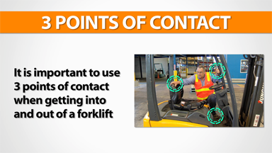 3 Points Of Contact: Forklift (Electric)