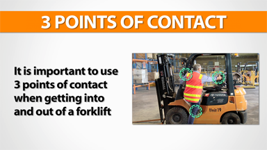 3 Points Of Contact: Forklift (Gas)