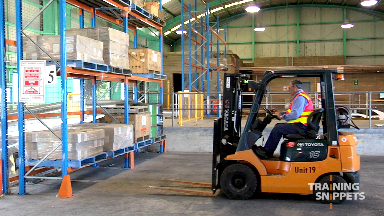 Forklift: Picking A Pallet From Above Head Height