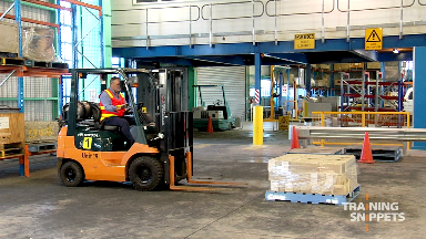 Forklift: Picking Up A Pallet From The Floor