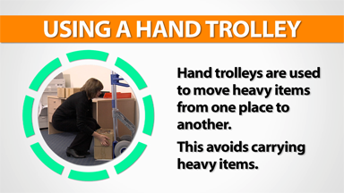 Office: Using A Hand Trolley