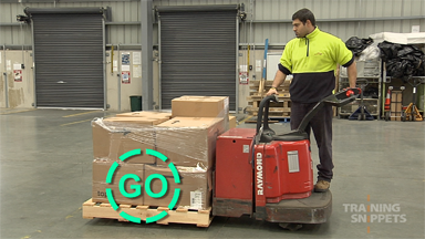 Warehouse: Ride-On Pallet Jack