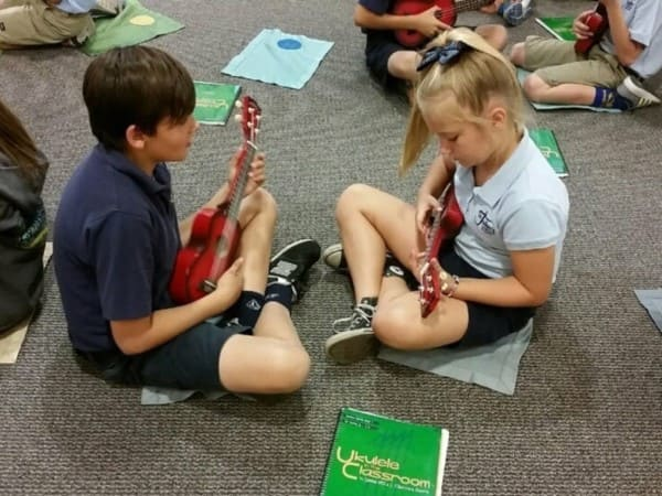 Childrens with Musician Instruments Christian School in Orange CA