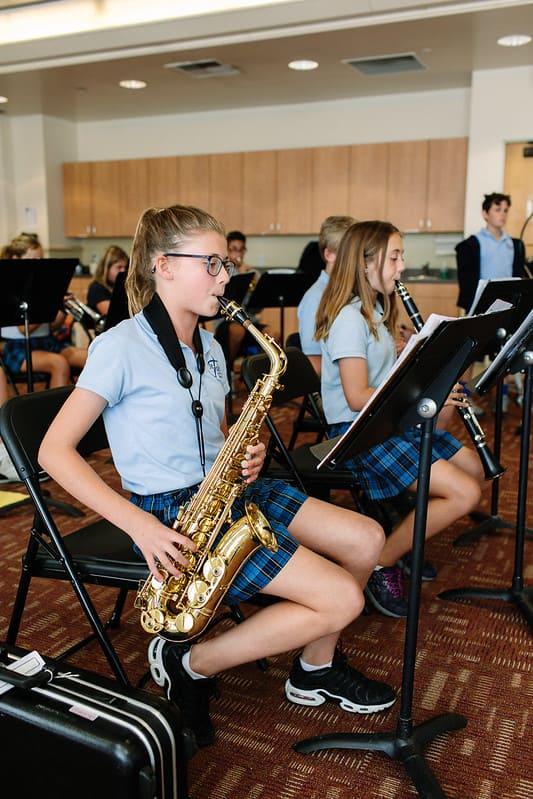 Girl with Saxophone Christian School in Orange, CA