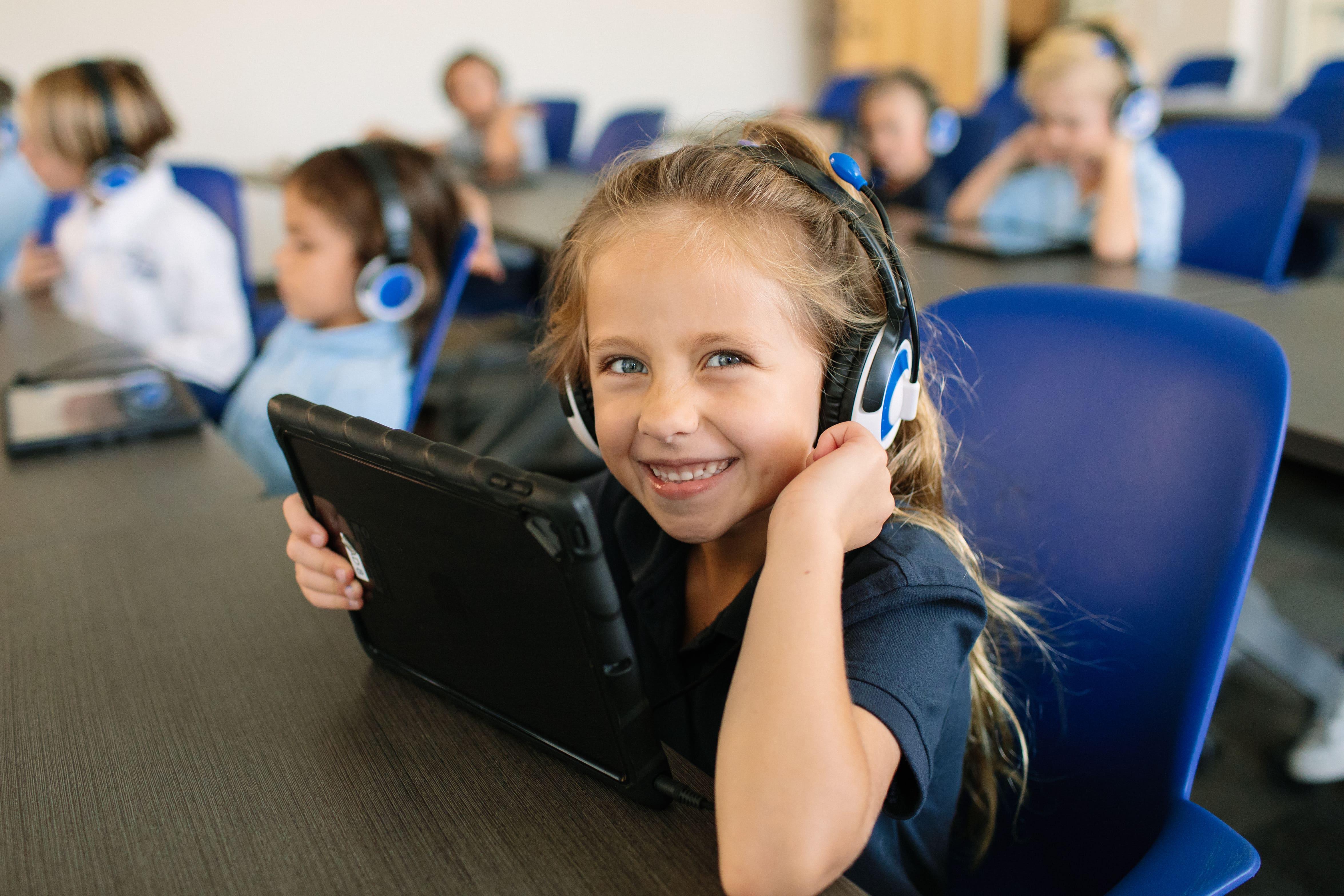 iPad learning Christian School in Orange, CA