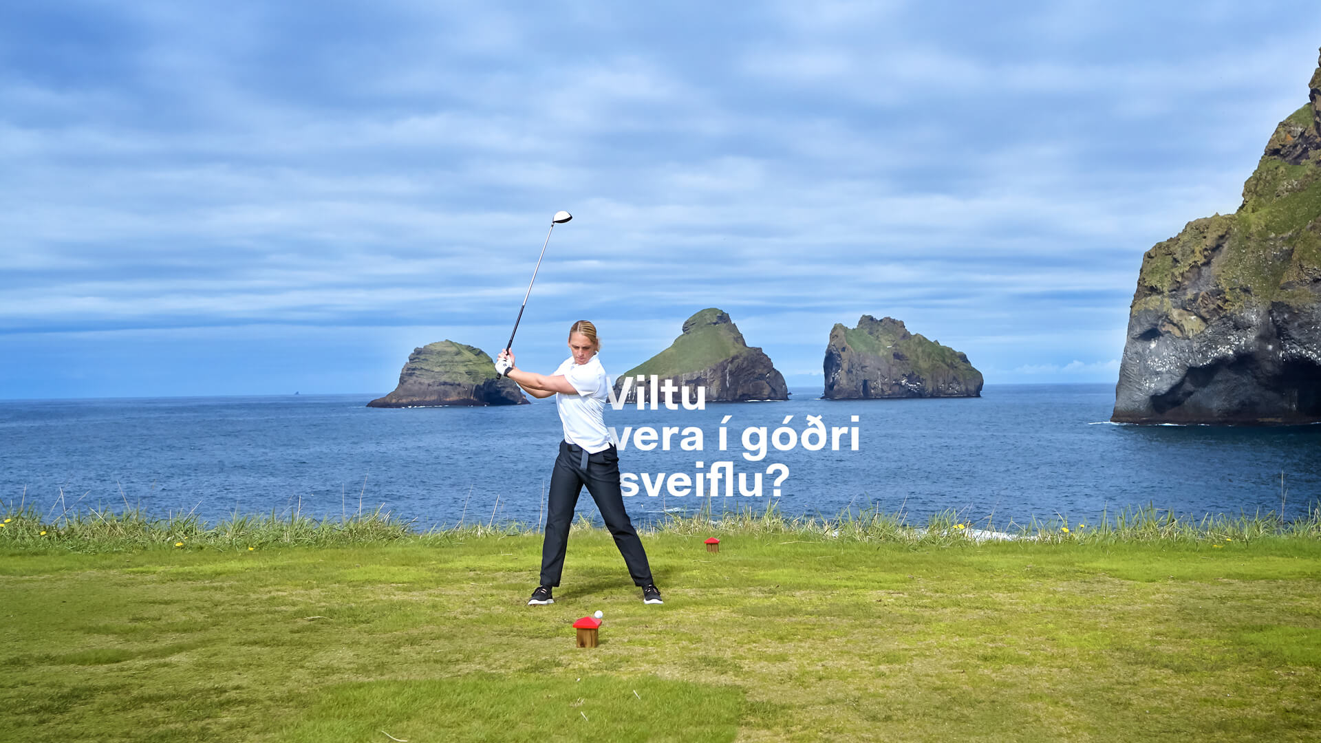 Þú getur spilað golf í Vestmannaeyjum