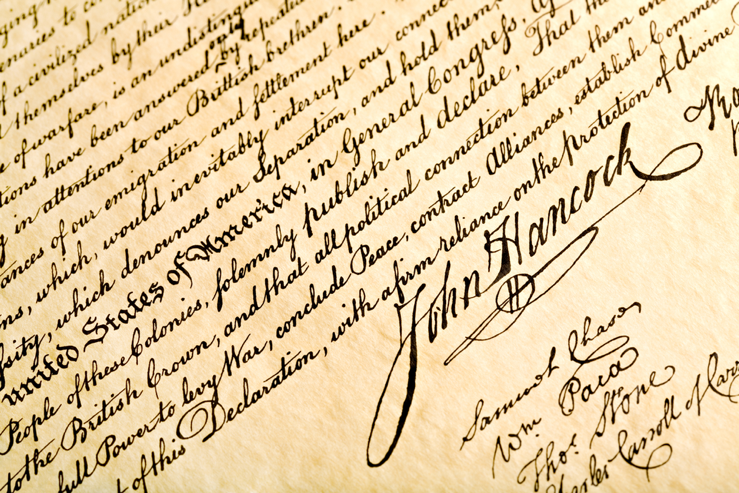 John Hancocks signature under document