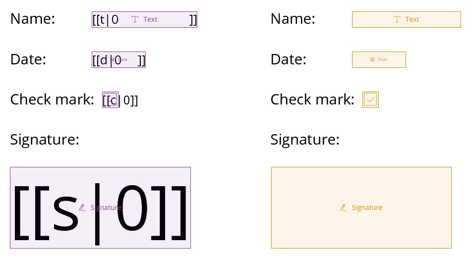 SignRequest template tags