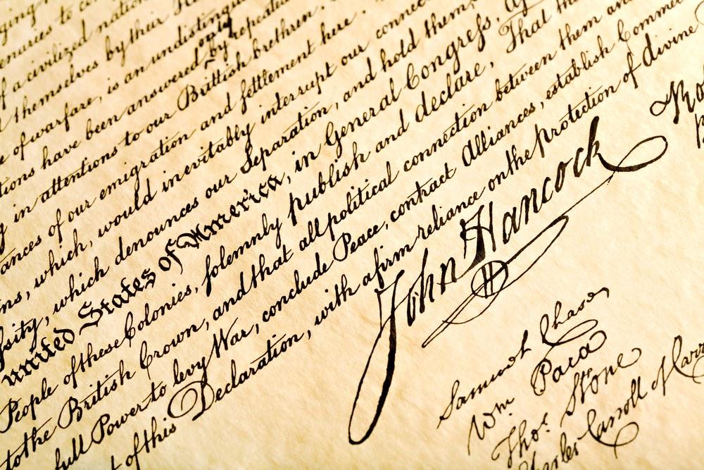 Hancock's handtekening
