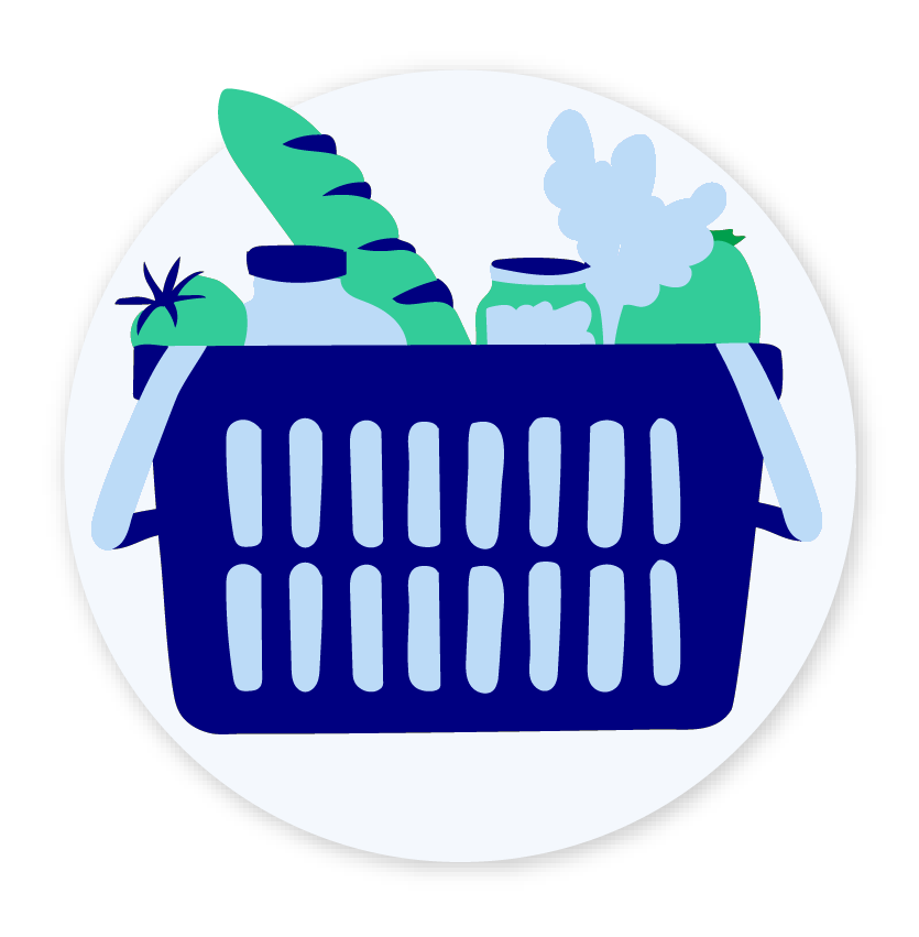 Grocery shopping cart icon
