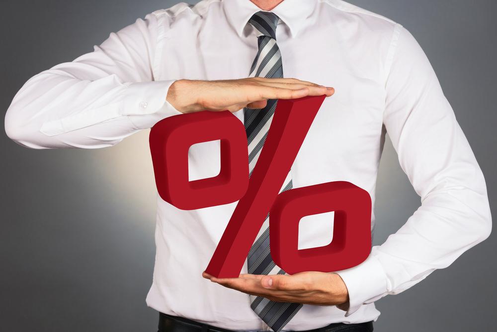 Taxa de juros percentual