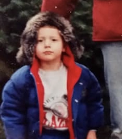 Erik Hedberg as a kid, looking tough for the camera