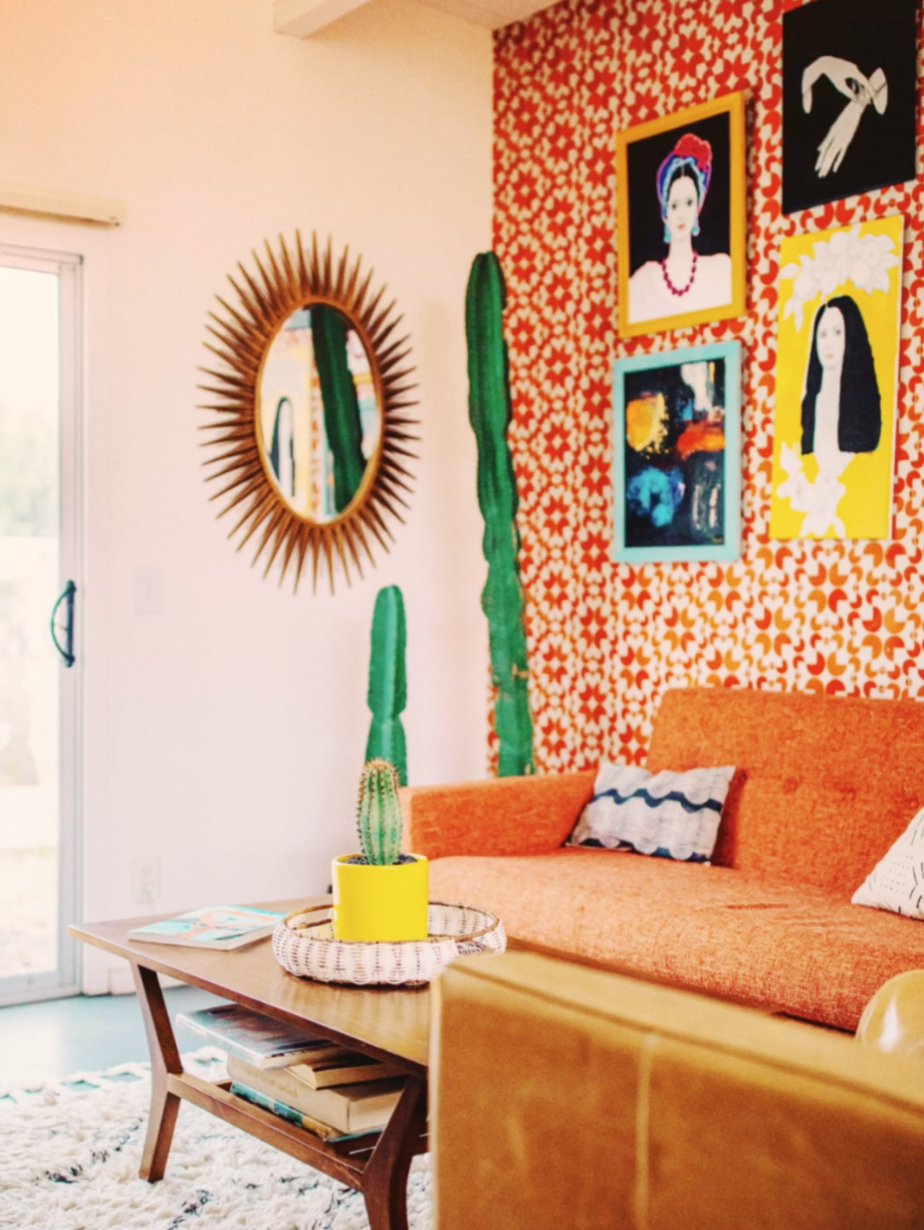 A warm, bright living room using Forrest Mankin's Desert look