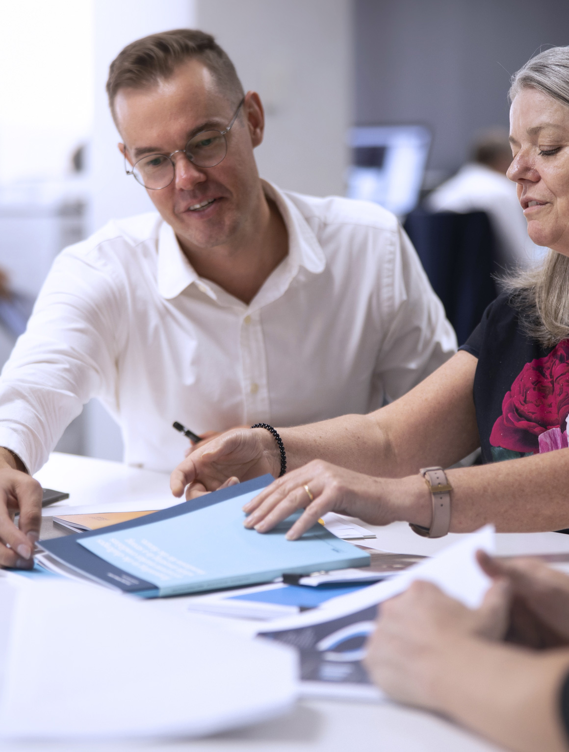 Designate team members reviewing work.