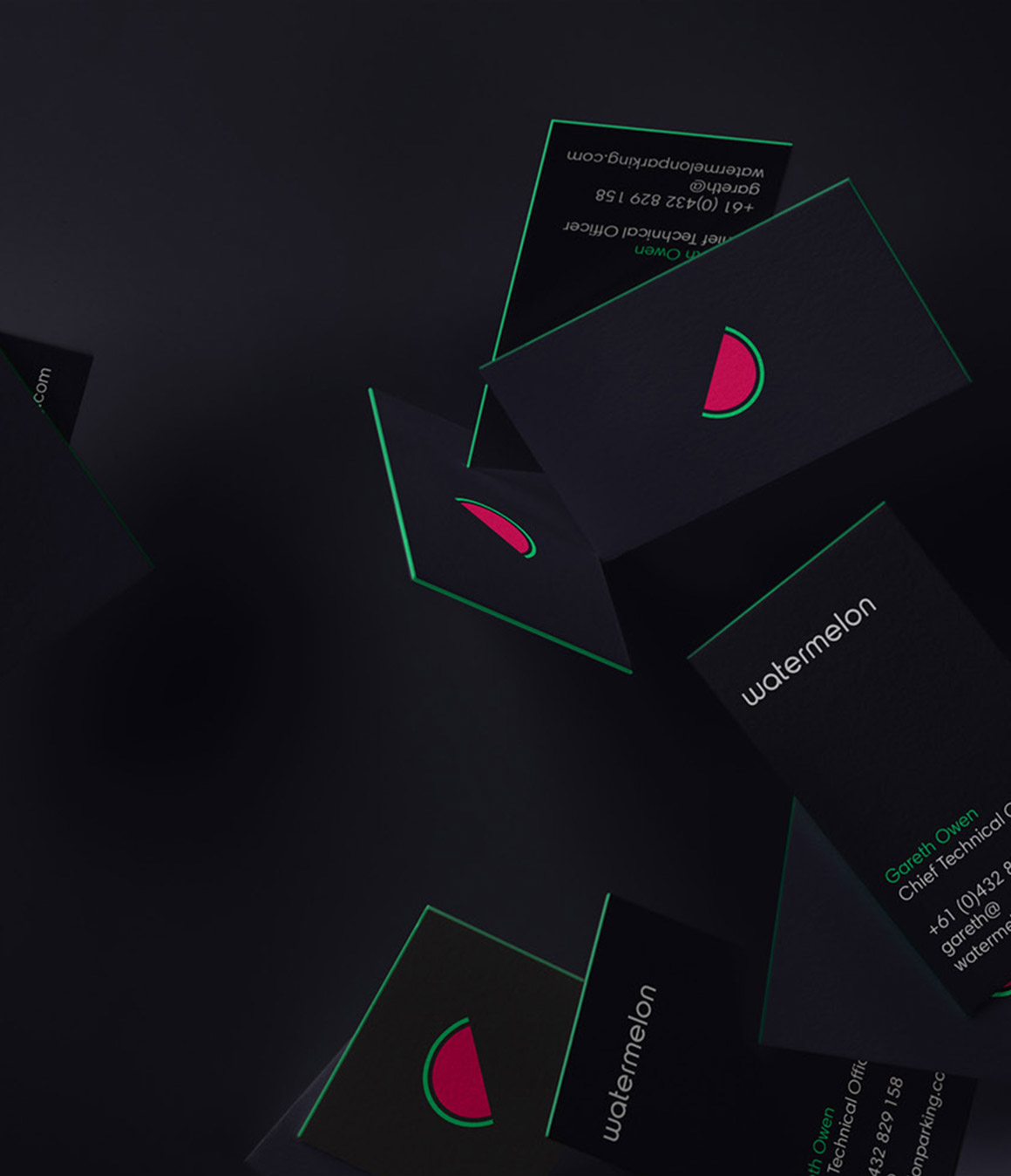 Watermelon. Business card design.