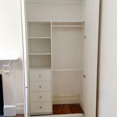 internal of wardrobe