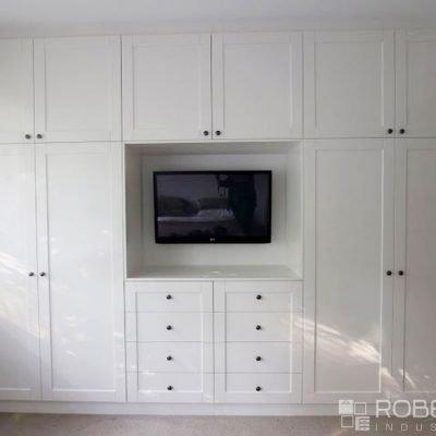 hinged storage doors