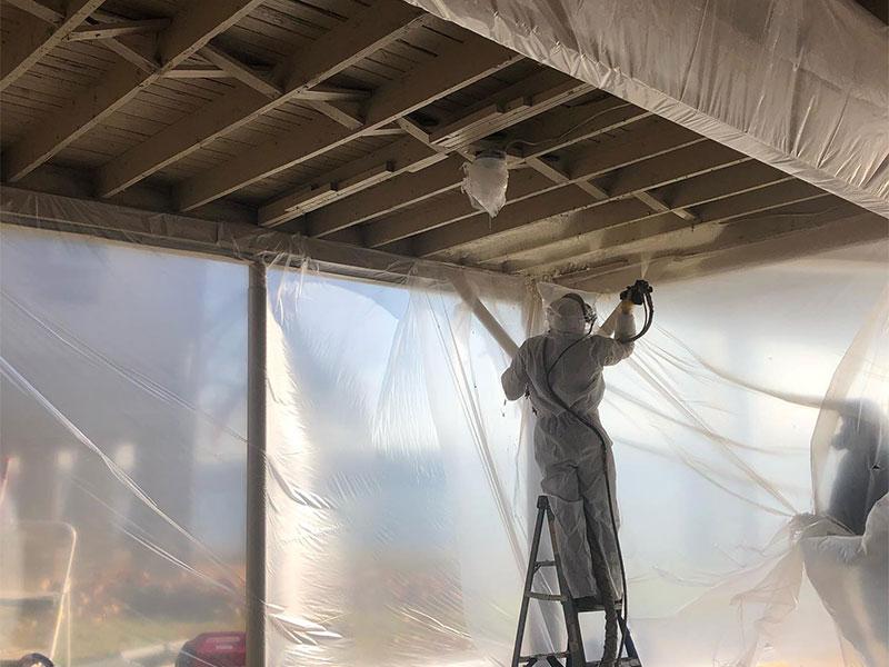 Spray Foam Insulation Project in progress