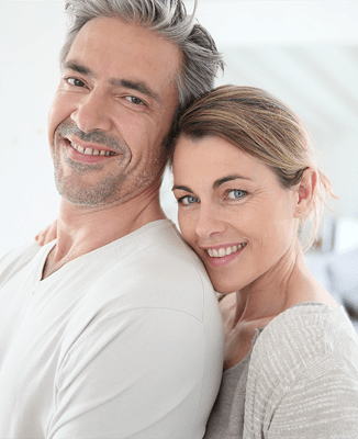 Woman and Man pleased with their facial enhancements
