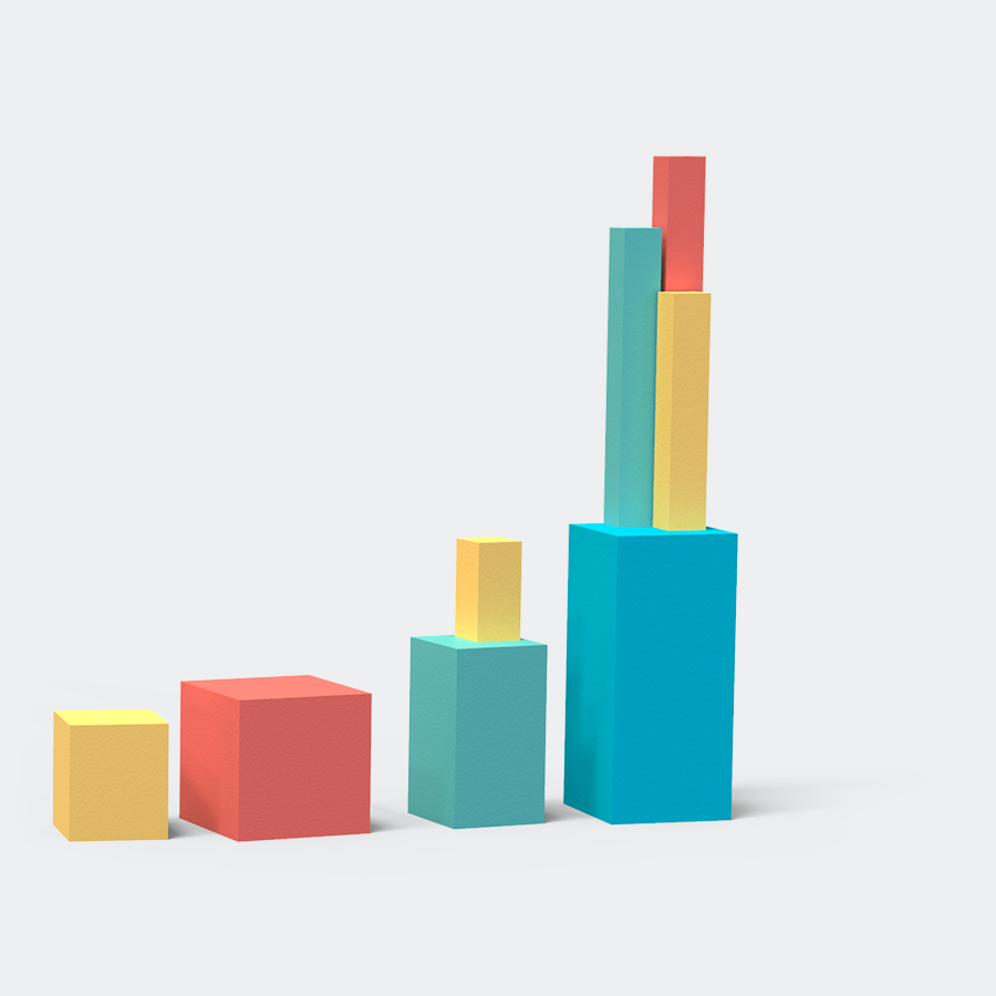 blocks that are organised to look like a graph