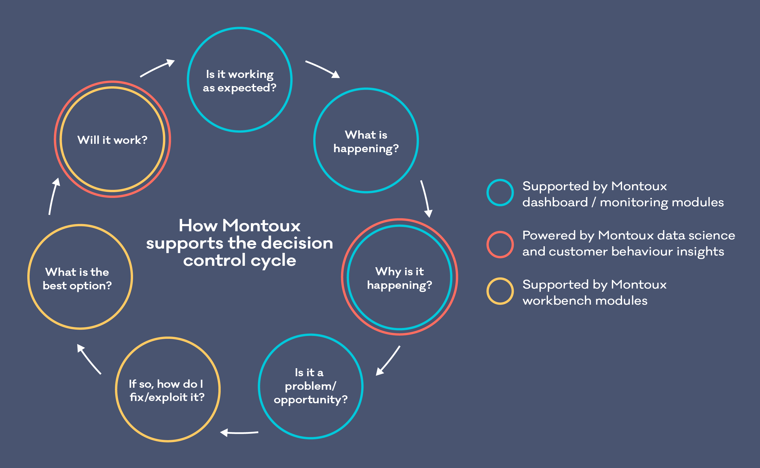 Montoux supports the decision control cycle