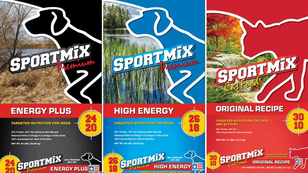 Sportmix energy plus high energy and original recipe packaging