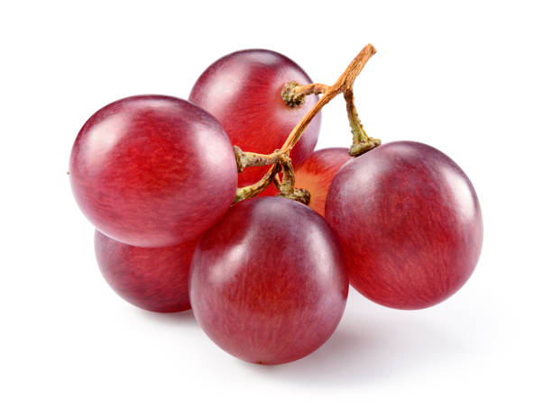 Grapes. Red grape. Grape branch isolated on white. Grapes. Red grape. Grape branch isolated on white. With clipping path. Full depth of field. grapes stock pictures, royalty-free photos & images