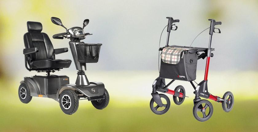 mobiliteit - scootmobiel - rollator-rolstoel