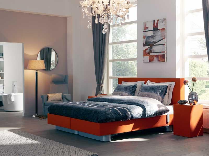 moderne slaapkamer met zorgbed