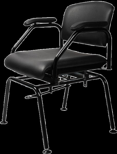 draai schuif stoel geheel gedraaid