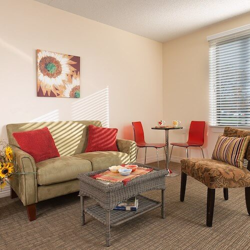 Respite Care Arkansas City Sitting Area