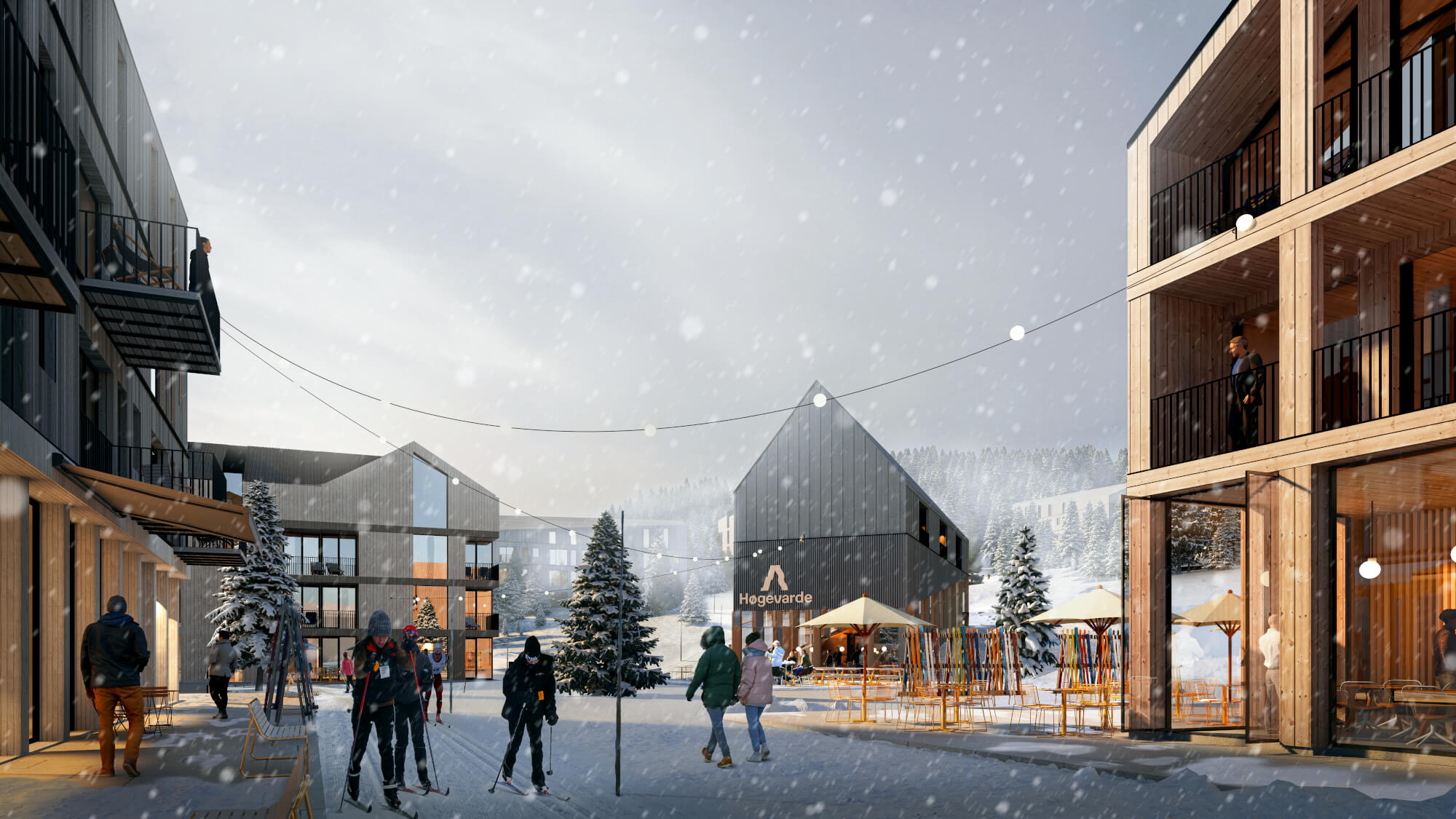 Fjellparken vil være sentrum i nye Høgevarde
