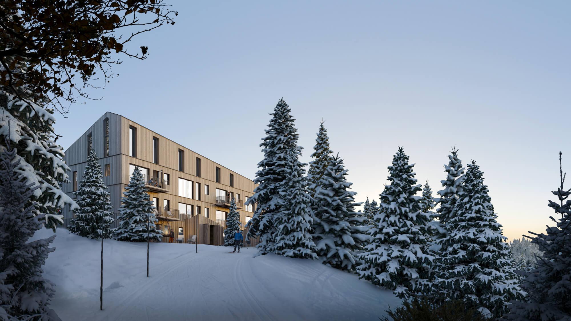 Utside: De nye leilighetene på Høgevarde