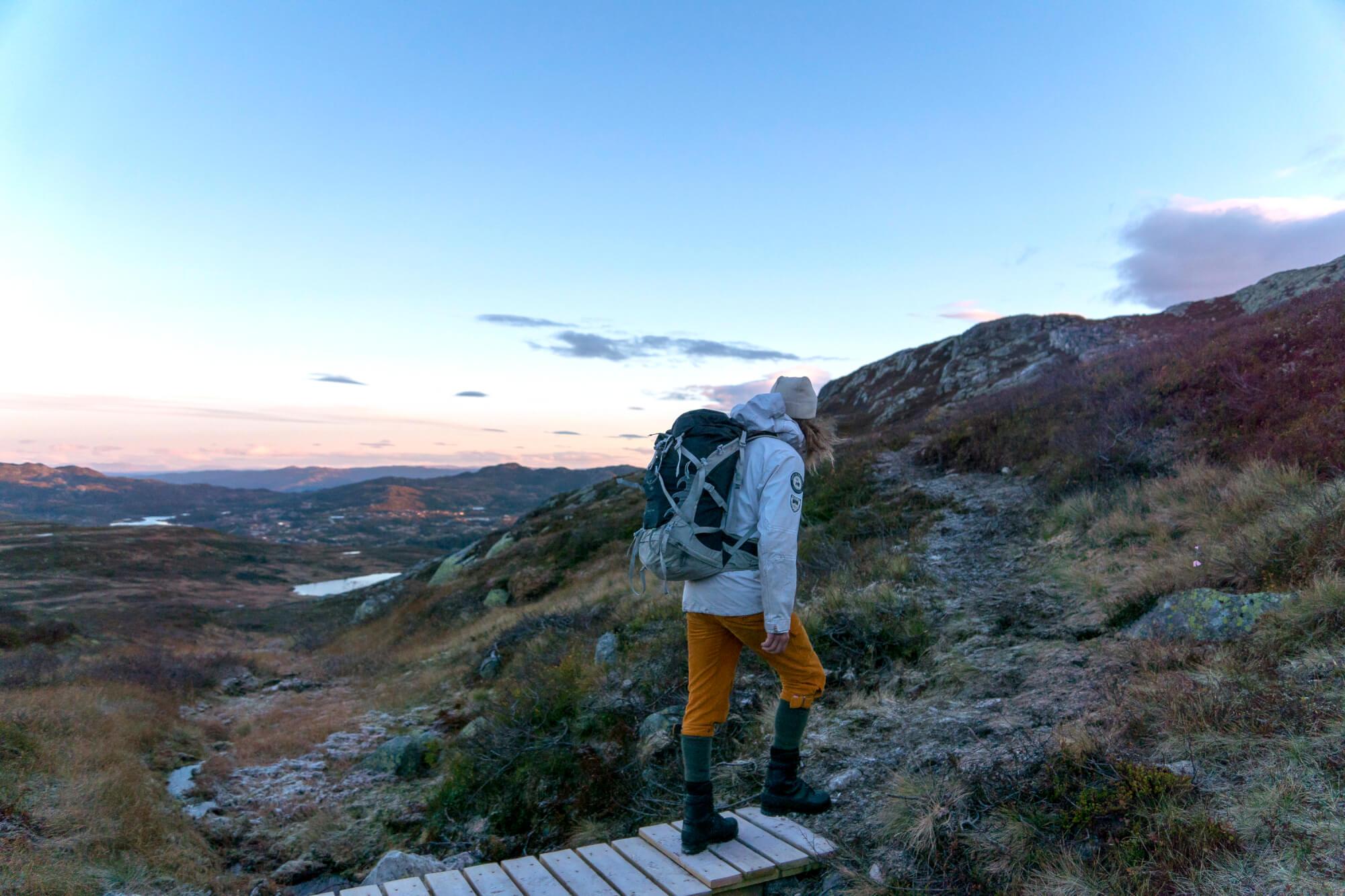 Tur i fjellet på Høgevarde