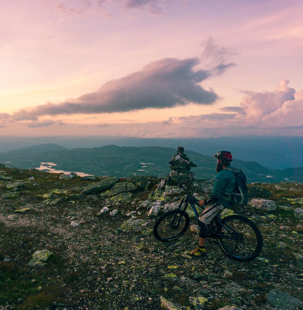 Stisykling på Høgevardes sykkelstier
