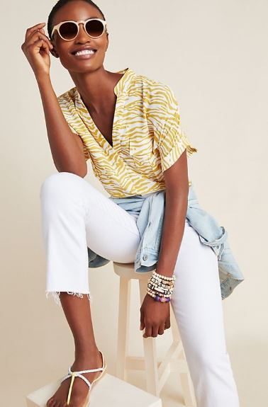 ANTHROPOLOGIE amira utility shirt