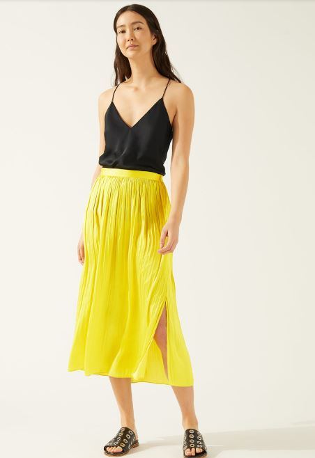 Jigsaw crocus drape pleated skirt