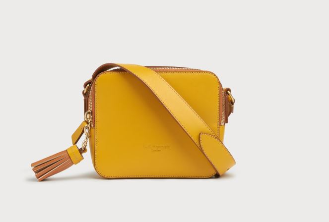 L K BENNETT Yellow Shoulder Bag