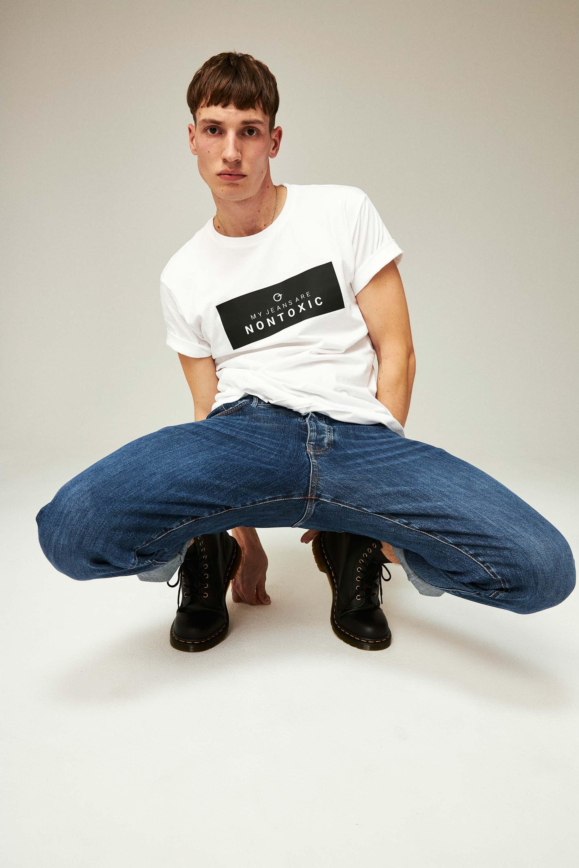 ThokkThokk Men Bio Cool Straight Jeans Blue
