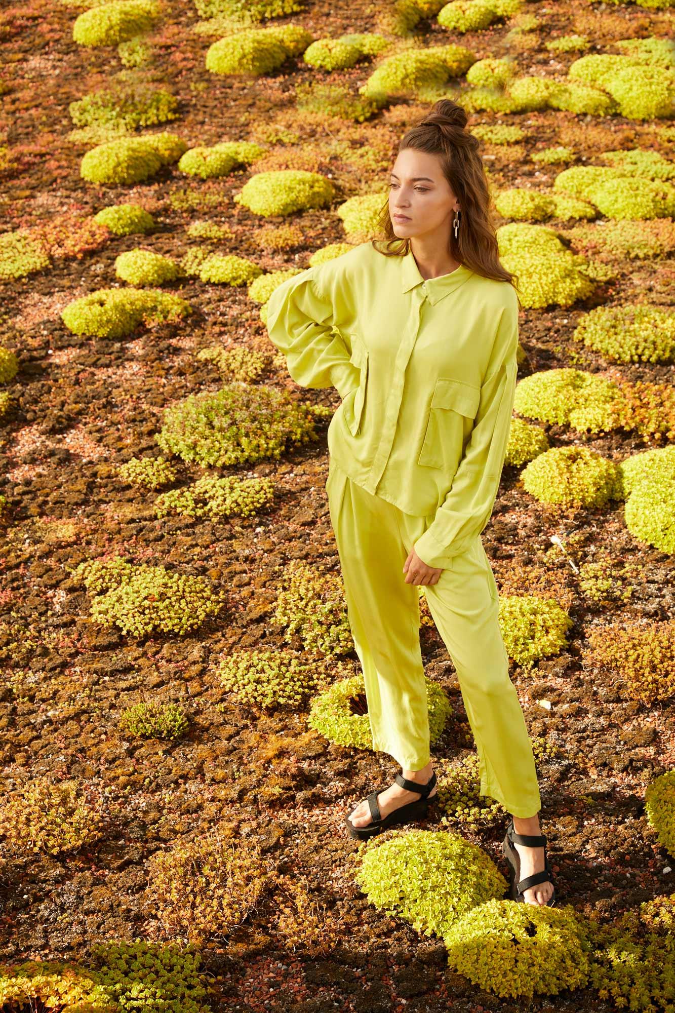 Monochromatic Look in grün und nachhaltig aus Ecovero von ThokkThokk