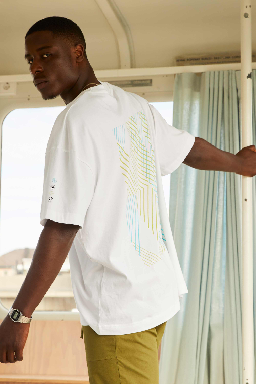 Biobaumwoll Oversized T-Shirt mit Rückenprint vonThokkThokk
