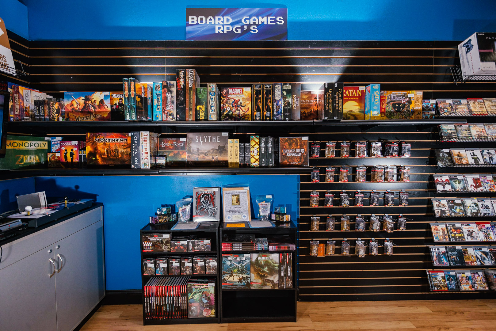 Ready set game board games and RPG section.