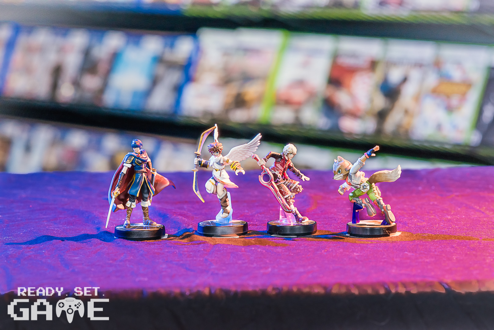 Ready set game toys and figurines.