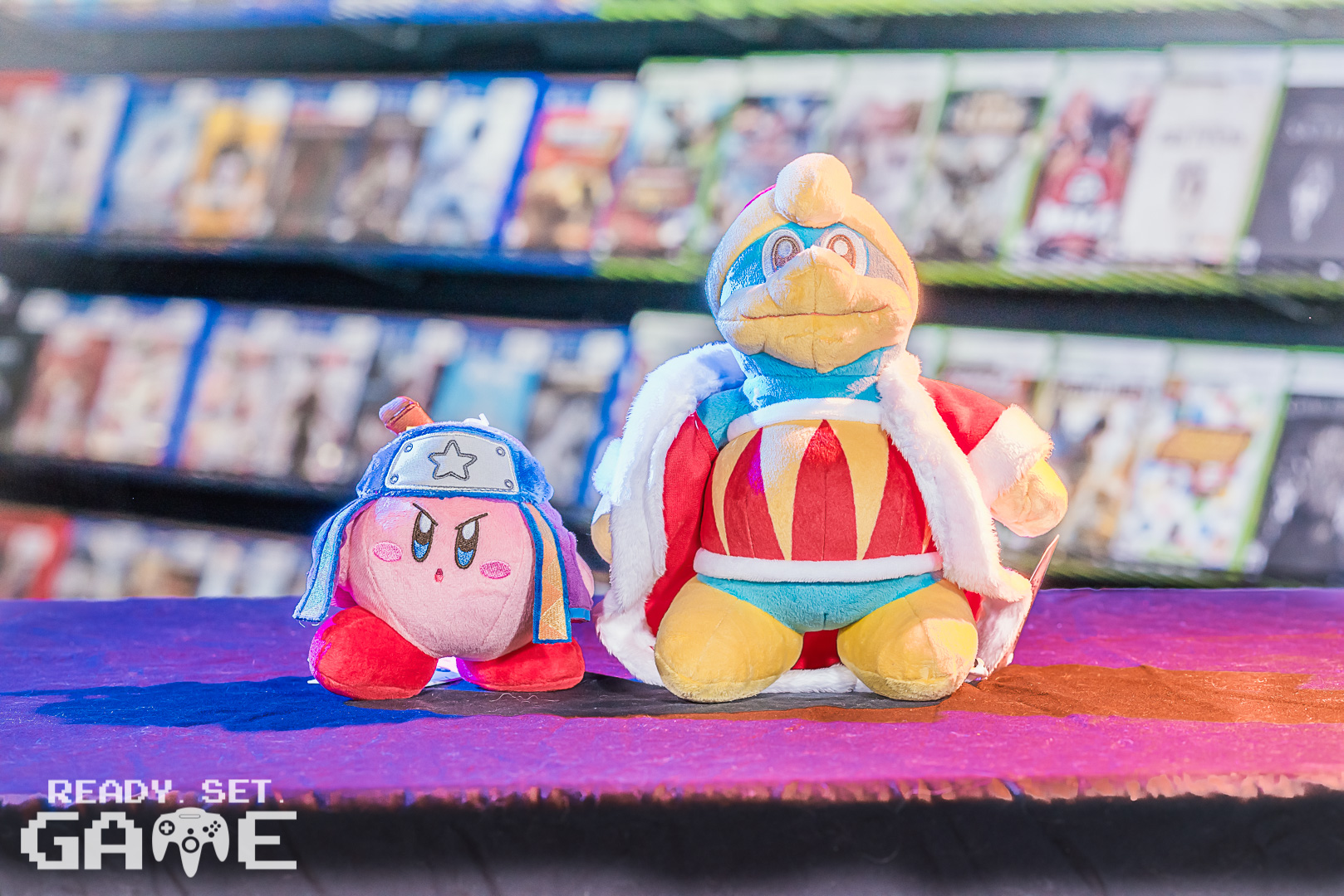Ready set game video characters stuffed figurines