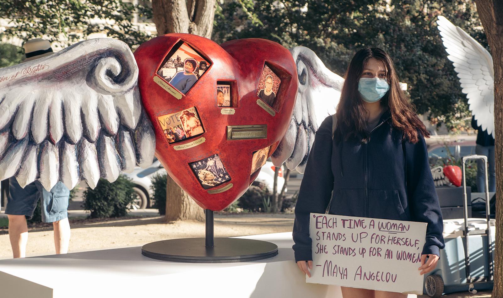 The Activist Heart at Women's March Sacramento