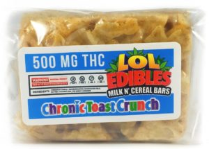 OL Edibles krispy cereal bars