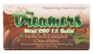 Mint CBD 1:1 Ratio bar Day Dreamers