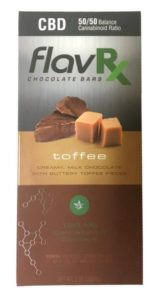 CBD toffee chocolate bar FlavRX